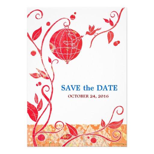 Love Birds Save The Date Wedding Invitations 5 X 7 Invitation Car