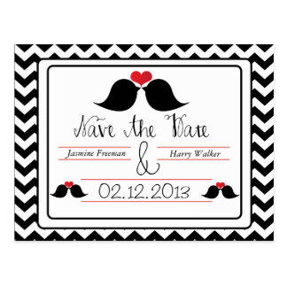 Love Birds Save The Date Wedding Postcard