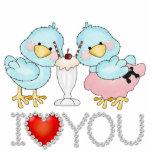 Love Birds Sculpture Photo Cutouts