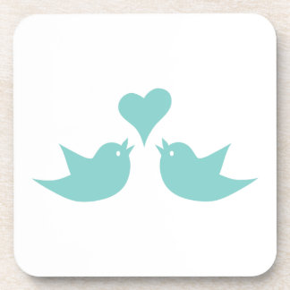 Love Birds Singing from the Heart Beverage Coaster