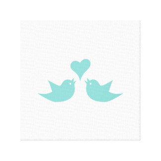 Love Birds Singing from the Heart Canvas Print