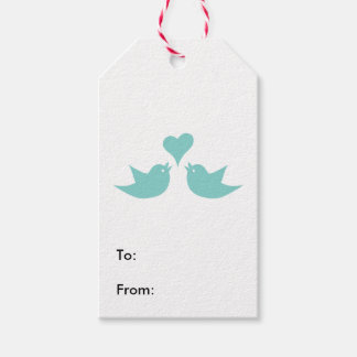 Love Birds Singing from the Heart Gift Tags