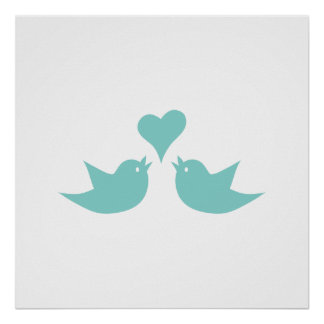 Love Birds Singing from the Heart Poster