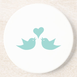 Love Birds Singing from the Heart Sandstone Coaster