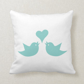 Love Birds Singing from the Heart Throw Pillow