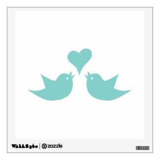 Love Birds Singing from the Heart Wall Decal