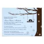 Love Birds Snowflakes Oak Tree Bridal Shower 5x7 Paper Invitation Card