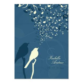 "Love Birds Song Wedding Invitation 4.5"" X 6.25"" Invitation Card"