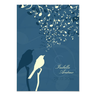 Love Birds Song Wedding Invitation