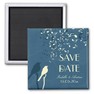 Love Birds Song - wedding save the date 2 Inch Square Magnet