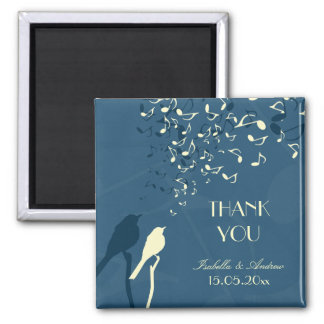 Love Birds Song - wedding thank you 2 Inch Square Magnet