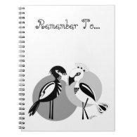 Love Birds Spiral Note Books