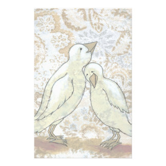 Love birds stationary perfect couple romantic art customized stationery
