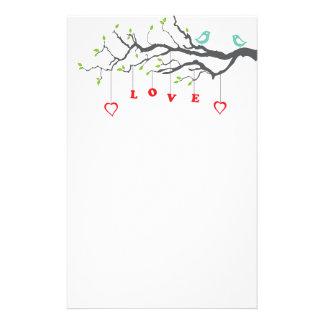 Love Birds Custom Stationery