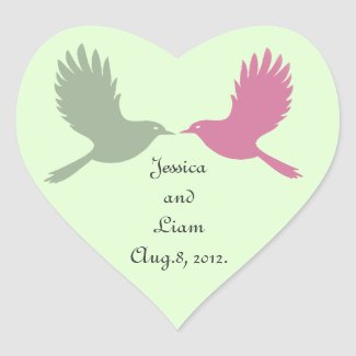 Love Birds Sticker (green)