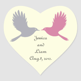 Love Birds Sticker (off white)