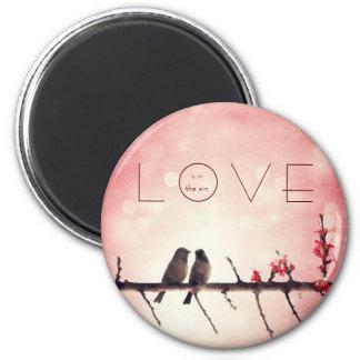 Love birds story 2 inch round magnet