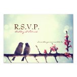 Love birds story 3.5x5 paper invitation card