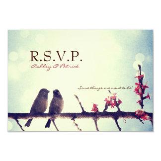 Love birds story 3.5x5 paper invitation card