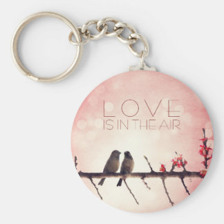 Love birds story keychain
