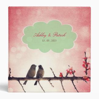 Love Birds Story wedding photo album 3 Ring Binder