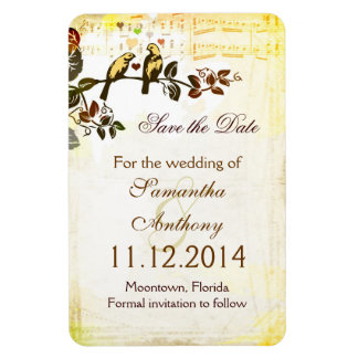 love birds sweet romantic save the date magnet