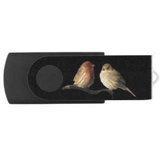 Love Birds Swivel USB Flash Drive
