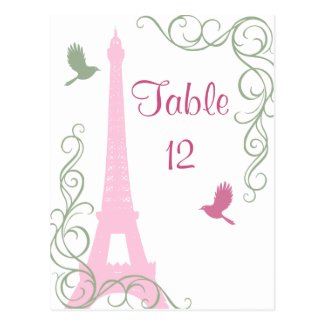 Love Birds Table Number