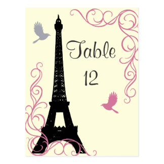 Love Birds Table Number (off white) Postcard