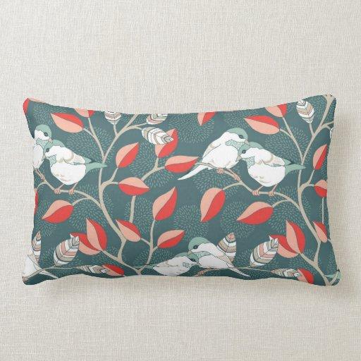 Love Birds - Teal Throw Pillow Zazzle