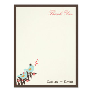 Love Birds Thank You Card