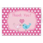 Love Birds  Thank You Card Cards