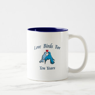 Love Birds Two-Tone Coffee Mug