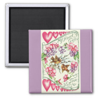 Love Birds Vintage Valentine's Day Magnet
