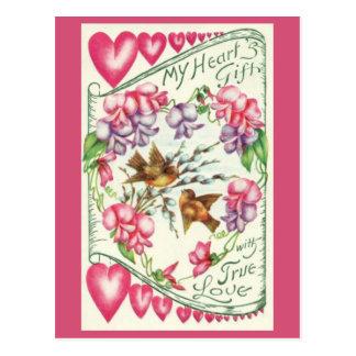 Love Birds Vintage Valentine's Day Postcard