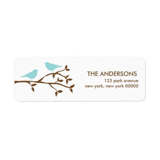 Love Birds Wedding Address Labels