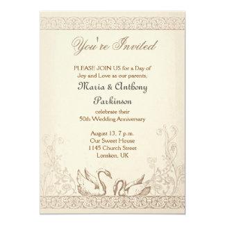 love birds wedding anniversary vintage card