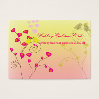Love Birds, Wedding Enclosure (Chubby Bizcards) Business Card