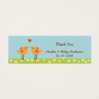 Love Birds Wedding Favor Tags Mini Business Card