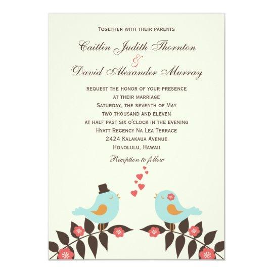 Love Birds Wedding Invitation Zazzle Com