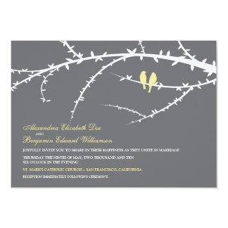 Love Birds Wedding Invitation (ivory)