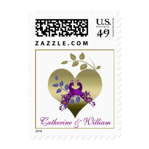 Love Birds Wedding Invitation Postage Stamp Zazzle