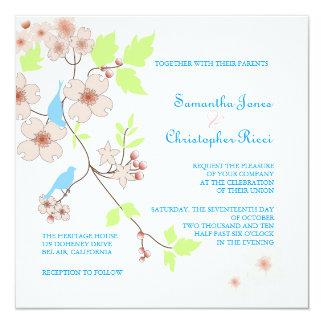 Love Birds Wedding Invitations/diy background