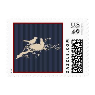 Love Birds Wedding Postcard Postage