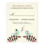Love Birds Wedding RSVP Card Custom Invites