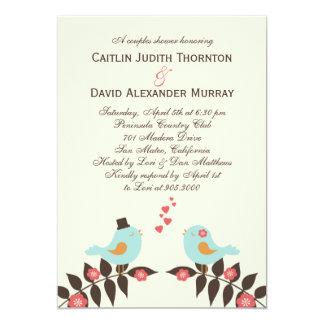 Love Birds Wedding Shower Invitation Personalized Invitations