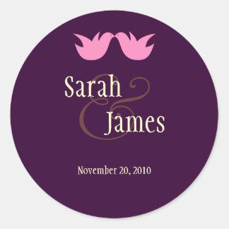 Love Birds Wedding Sticker