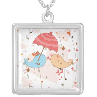 Love Birds Wedding Valentines Personalized Necklace