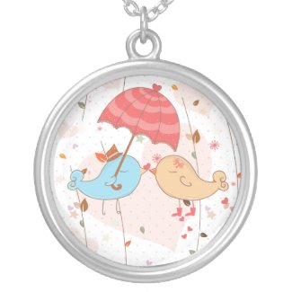 Love Birds Wedding Valentines Pendants
