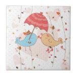 Love Birds Wedding Valentines Tile
